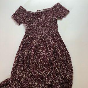 Yi Shang floral off the shoulder dress